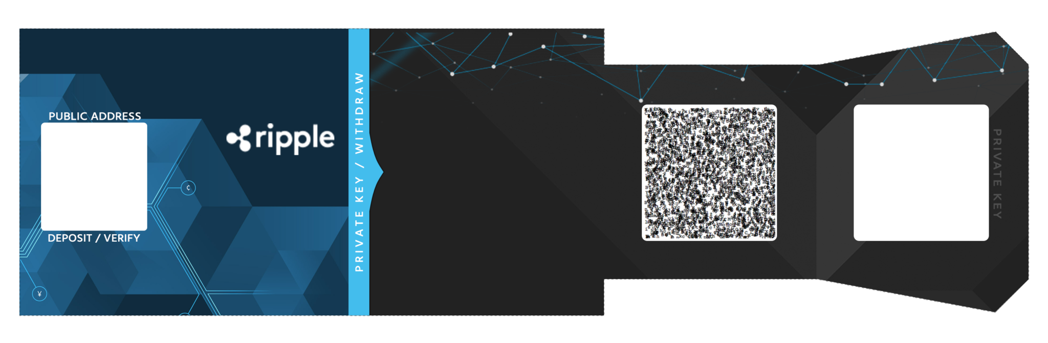 Ripple XRP paper Wallet image