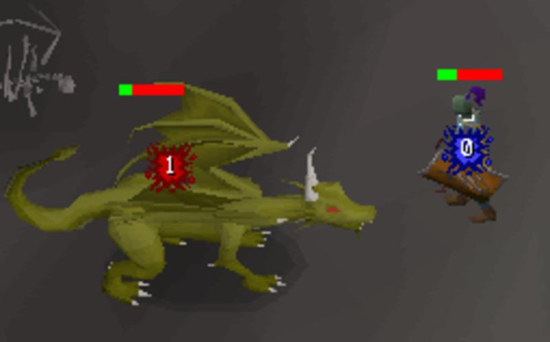slaying green dragons in runescape wilderness