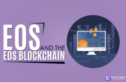 EOS and the EOS blockchain Easy crypto logo blog preview image